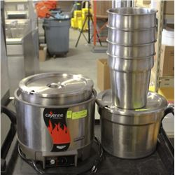 VOLLRATH STAINLESS STEEL COMMERCIAL SOUP WARMER