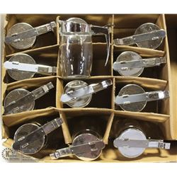 12 CHROME SUGAR/SYRUP DISPENSER NEW -AS THEY COME