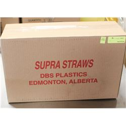 """CASE OF 6"""" FAT SUPRA STRAWS - AS THEY COME"""