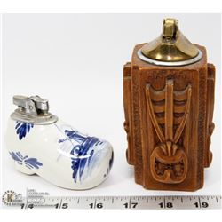 VINTAGE DELFT SHOE CIGARETTE LIGHTER AND MORE