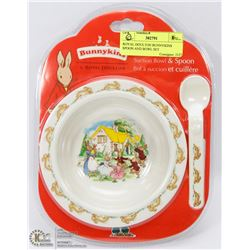 ROYAL DOULTON BUNNYKINS SPOON AND BOWL SET