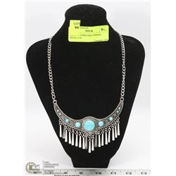 ORNATE TURQUOISE CHOKER NECKLACE