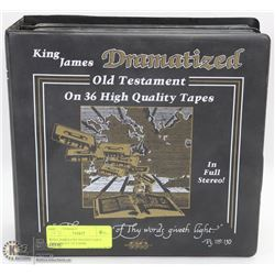 KING JAMES DRAMATIZED OLD TESTAMENT 34 TAPES