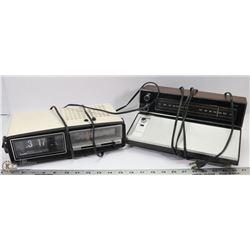 VINTAGE RCA RADIO & VINTAGE CLOCK RADIO