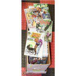 BOX OF 250 COMICS - BAGGED & BOARDED.