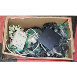 BOX OF ASSORTED POWER CABLES