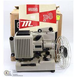 VINTAGE EUMIG P8M FILM PROJECTOR IN ORIGINAL BOX