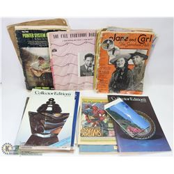 LOT OF 1920-1950'S MUSIC BOOKS, MAGAZINES & MORE