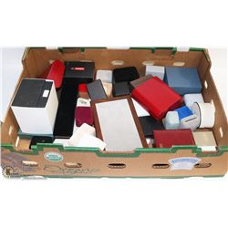 FLAT OF JEWELLERY BOXES , WATCHES BOXES ETC.