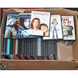 CASE OF OVER 75 DVDS INCL BUFFY SEASON SETS, OLD