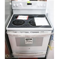 "GE WHITE 30"" FREE STANDING SELF CLEANING"