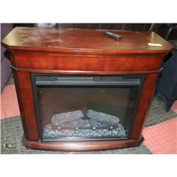 WOOD ENCLOSED ELECTRIC FIREPLACE WITH REMOTE