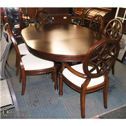 LARGE DESIGNER WOOD TABLE WITH 6 CHAIRS