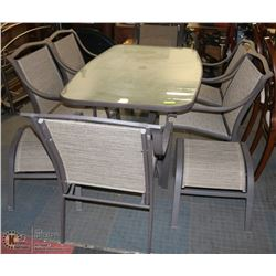 PATIO TABLE WITH 6 CHAIRS AND 2 STOOLS