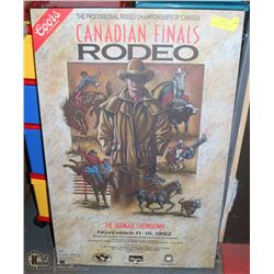 DRY MOUNTED 1992 CANADIAN FINALS RODEO