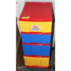 "COLORFUL ""IRIS"" MINI CHEST WITH 4 DRAWERS - 30"""
