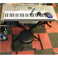 CASIO LK-300TV ELECTRIC KEYBOARD WITH STOOL. AND