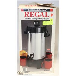 REGAL 10-36 CUP COFFEE MAKER IN ORIGINAL BOX