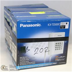 LOT OF 4 PANASONIC KX-TS500C PHONES.