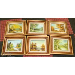LOT OF 6 MATTED AND MATCHING FRAMES LANDSCAPE