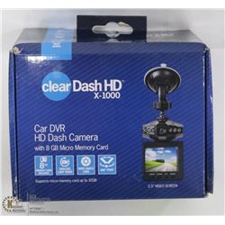 CLEAR DASH HD DASH CAMERA 8GB CARD WIDE ANGLE