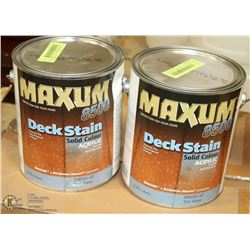 LOT OF 2 MAXIMUM ACRYLIC DECK STAINS