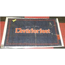 "36""X24"" LEVIS STORE PROMOTIONAL JEANS AD"