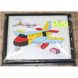 "1962 CHILD GUIDANCE TOY AIRLINER PUZZLE 12"" X 10"""