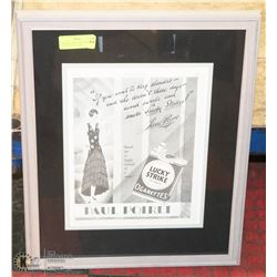 "ORIGINAL 1920'S LUCKY STRIKE CIGARETTE AD 11"" X 14"""
