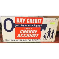 """THE BAY VINTAGE TWO SIDED METAL SIGN 30"""" X 15"""""""