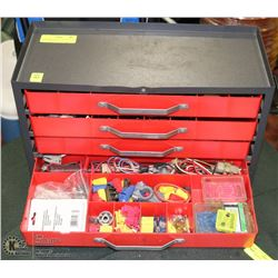 4 DRAWER ELECTRICIANS TOOLBOX WITH CONTENTS