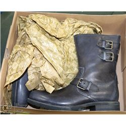 NEW UGG LEATHER MID CALF BOOTS, MENS SIZE 7
