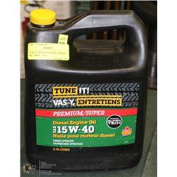 TUNE-IT PREMIUM DIESEL ENGINE OIL, 15W40, 3.78 L