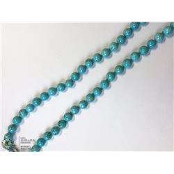 24) MAGNET CLASP TURQUOISE NECKLACE