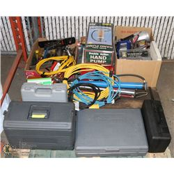 PALLET OF PARTIAL TOOL SETS, EXTENSION CORDS,