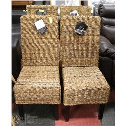 GROUP OF 4 WICKER CHAIRS