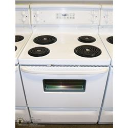 """GE SELF CLEANING 30"""" STOVE WITH DIGITAL DISPLAY."""
