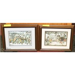 SET OF 2-3D VINTAGE SHADOW BOXES BY ANTON PIECK