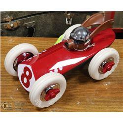 """HUGO BOSS RED RACER CAR 12"""" LONG"""