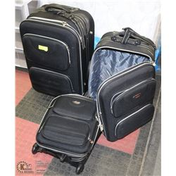 3PC AMERICAN SUITCASE SET, LARGE ONES HAVE WHEELS