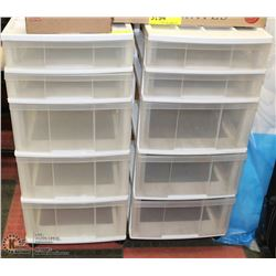LOT OF 2 -5 DRAWER STORAGE CABINETS