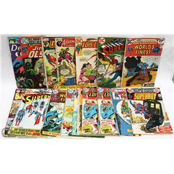 BOX OF VINTAGE SUPERHERO COMICS.