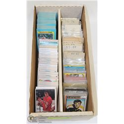 BOX OF ASSORTED 1970S HOCKEY CARDS.