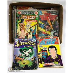 BOX OF VINTAGE COMICS.