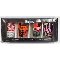 BEATLES COLLECTOR GLASS SET OF FOUR.
