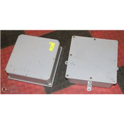 """2 LARGE ELECTRICAL JUNCTION PVC BOXES 14""""X14"""""""