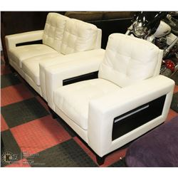 "SHOWHOME 60"" LOVESEAT  WITH 37"" CHAIR"