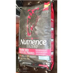 NUTRIENCE SUB ZERO DOG FOOD 22LBS. EXP. JULY 2019