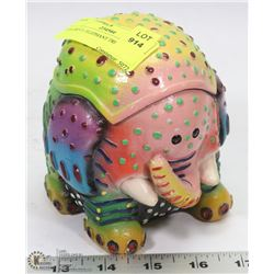 COLORFUL ELEPHANT TRINKET JAR