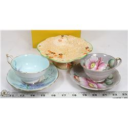 ESTATE LOT OF 2 CUPS AND SAUCER SETS MADE IN